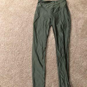 Olive green athletic leggings